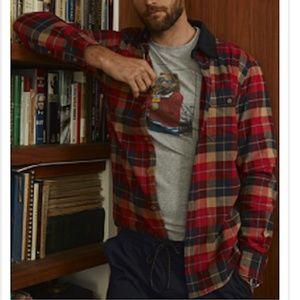 Rustic flannel check 100% organic cotton shirt NWT